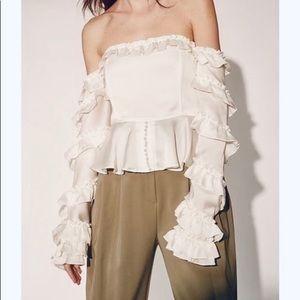 Style Mafia off the shoulder ruffle corset